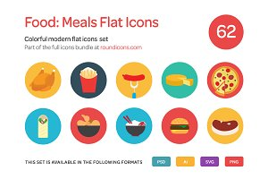 Food: Meals Flat Icons