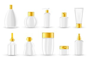 Cosmetic Packaging Design Set