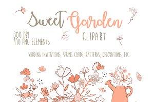 Sweet Pink Garden Wedding Clipart