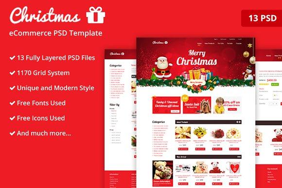 Free christmas website template.