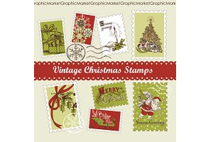 Christmas Vintage style Stamps
