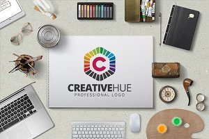 Creative Hue Logo Template