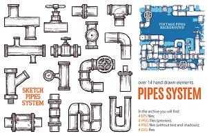 Pipes System Sketch Set