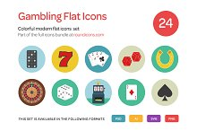 Gambling Flat Icons Set