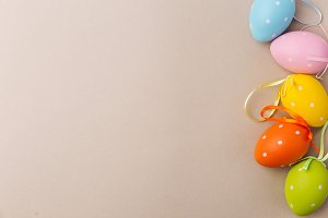 Colorful decorative Easter eggs