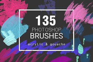 Acrylic&Gouache - 135 PS brushes
