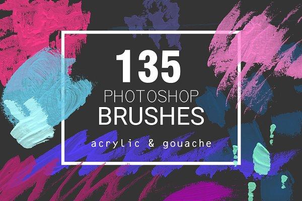Acrylic&Gouache - 135 PS brushes