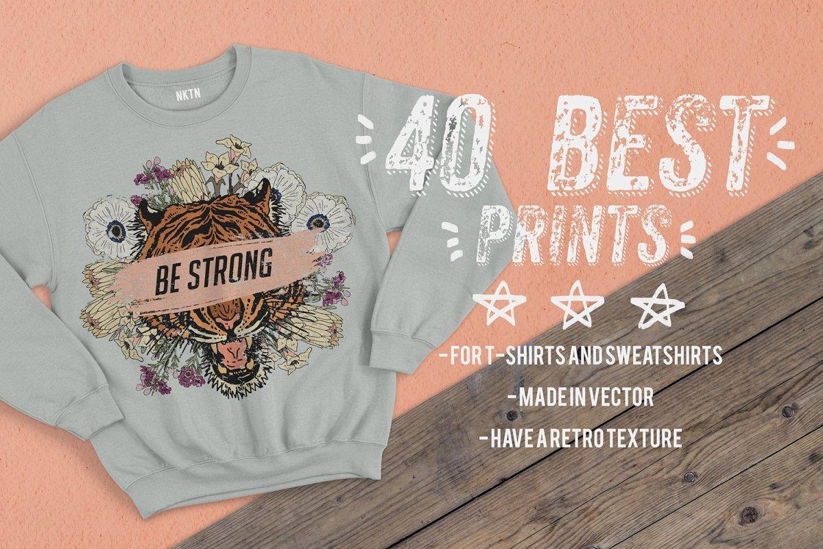 89beb4e03 40 best prints for T-shirts ~ Illustrations ~ Creative Market