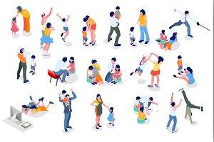 Kids Minimal People Set