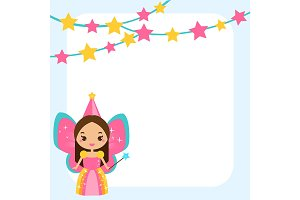 Frame for kids with cute fairy