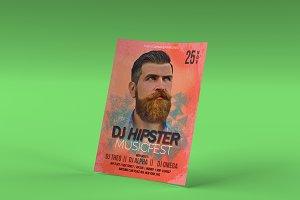 DJ Hipster Flyer Template