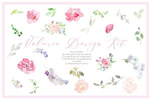Watercolor Clipart: Valerie Kit