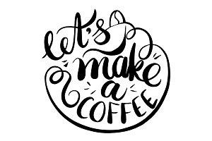 Vector illustration coffee logo