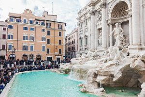Famous Trevi fountain in Rome