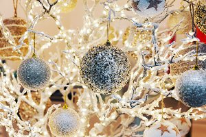 Glittering Christmas background