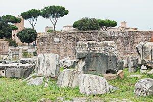 Antique Roman forum in Rome