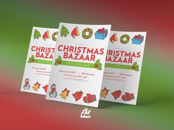 christmas bazaar flyer template v2 flyer templates creative daddy