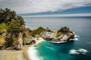 McWay Falls on Pacific Coast Highway, Big Sur state park, California