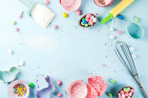 Sweet baking concept for Easter