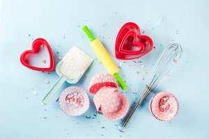 Sweet baking concept for Valentine's