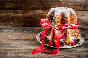 Traditional Christmas cake Panettone
