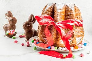 Traditional Easter cake Panettone
