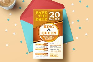 Save The Dates Wedding Invitation