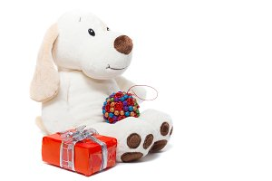 Toy plush dog