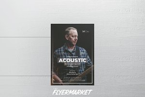 Christmas Acoustic Concert Flyer