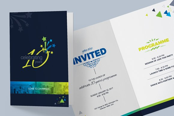 Invitation card template card templates creative market invitation card template cards stopboris Image collections
