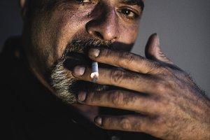 Smoking senior men