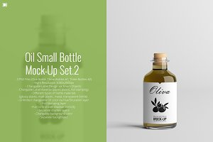 Oil Small Bottle Mock-Up Set.2