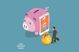 Online bank deposit