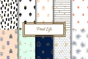 Pond Life - Seamless Patterns