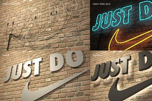 logo sign Nike Just do it 3d