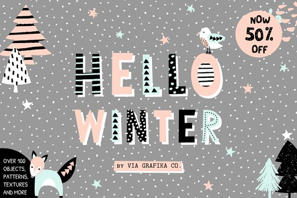 50% Off Hello Winter Graphics Set