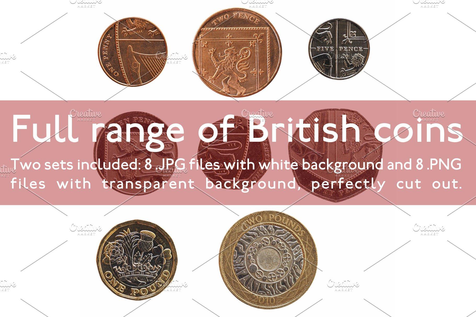 Full range of British coins