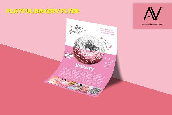 Playful Bakery Flyer Template