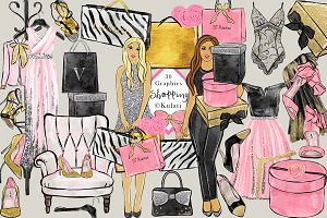 Glam Shopping clip art / images