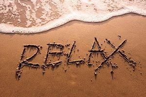Relax on the sand beach