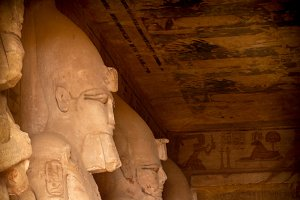 Statues of Osiris, Abu-Simbel