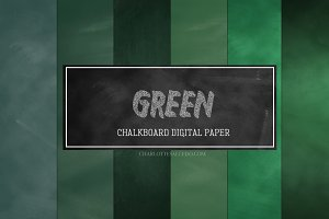 Green Chalkboard Digital Paper