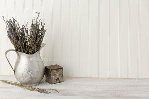Vintage Lavender Styled Mock Up