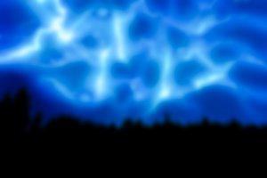 Lightning strikes - blurred image