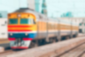 Passenger train - blurred image