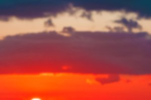 Hot sunset - blurred image