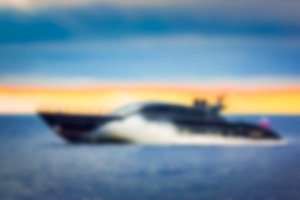 Yacht in the sea - blurred image