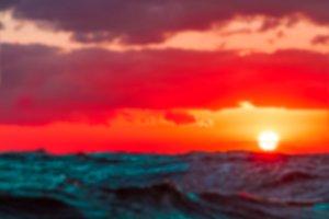 Hot sunset - blurred image