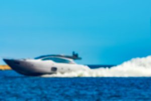 Speed boat - blurred image