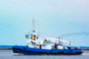Tug ship - blurred image